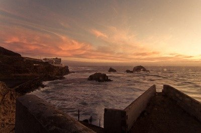 Sunset at Sutro Baths San Francisco