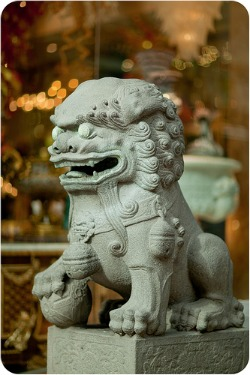 Chinatown, San Francisco - lion statue at chinatown gate