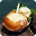 Soup in a Sourdough Breadbowl at Fisherman's Wharf San Francisco