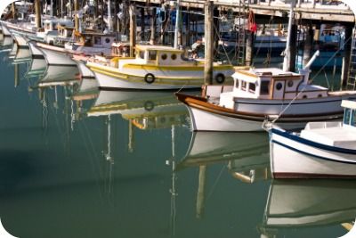 Boats at Fisherman's Wharf San Francisco