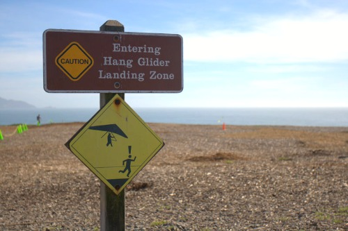 landing zone for hang gliders at Fort Funston