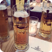 Image of Beers taken inside Suppenkuche, a German Restaurant in San Francisco