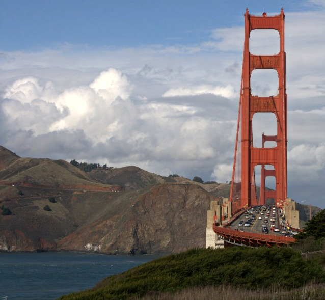Image of Golden Gate Bridge taken from the South End.