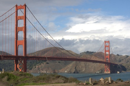 View of Golden Gate Bridge from the South end
