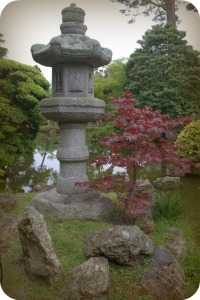 Stone Lantern inside the Japanese Tea Garden San Francisco