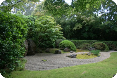 Dry Zen Garden inside the Japanese Tea Garden San Francisco
