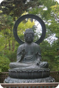 Buddha Statue in the Japanese Tea Garden San Francisco