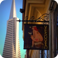 Vesuvio's Bar in North Beach San Francisco