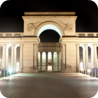 Legion of Honor Museum at night, San Francisco