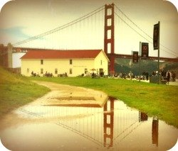 Partial View of the Warming Hut Cafe and Gift Shop at Crissy Field.
