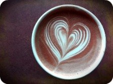 Cappuccino with a Steamed-Milk Heart Design