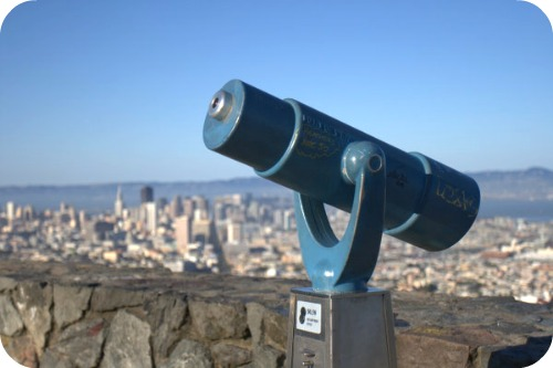 Telescope at Twin Peaks San Francisco